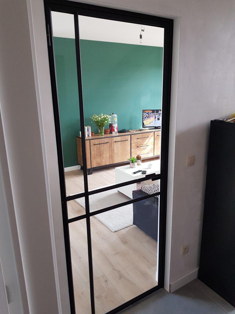 smeedijzer deur met glas en tradition