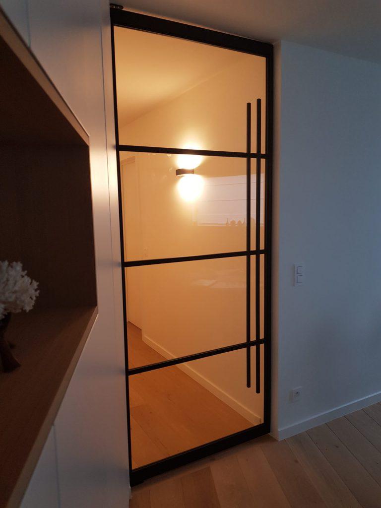 smeedijzer deur met glas en tradition en grote grijper